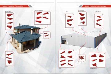 Blechbearbeitung für Dach und Wand